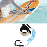 Surf Bodyboard Safety Hand Rope TPU Surfboard Paddle Towing Rope The Length After Stretching: 1.6m(Lake Blue)