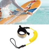 Surf Bodyboard Safety Hand Rope TPU Surfboard Paddle Towing Rope The Length After Stretching: 1.6m(Yellow)