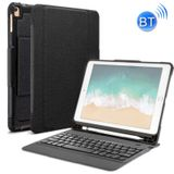 Detachable Bluetooth Keyboard + Horizontal Flip Leather Case with Holder for iPad Pro 9.7 inch iPad Air iPad Air 2 iPad 9.7 inch (2017) iPad 9.7 inch (2018)(Black)