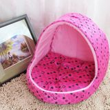 Small Pet Dogs Cats House Creative Yurt Shape Dog House Size: L 42*48*48cm (Magenta)