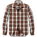 Blouse Carhartt Men L/S Essential Open Collar Shirt Plaid Plaid Sequoia-XXL