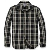 Blouse Carhartt Men L/S Essential Open Collar Shirt Plaid Black-XXL