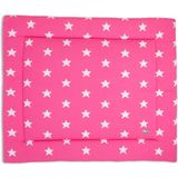 Baby's Only Ster - Boxkleed 85x100 cm - Fuchsia/Wit
