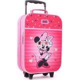 MINNIE MOUSE Hartjes Trolley Koffer Handbagage Kinderkoffer Roze