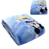 Mickey Mouse & Minnie Mouse Fleece Kinderdeken 150x220 cm - blauw