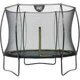 Exit Trampoline Silhouette 244 Black + Safety Net