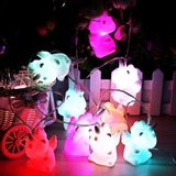 Purami LED Squishy Eenhoorn 10st String Light 20 * 10 * 8CM Decoration Valentines Gift Collection Toys