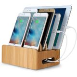 Bamboo Multi-device Telefoonhouder Oplaadstation Stand Holder Tablethouder voor smartphone-tablet