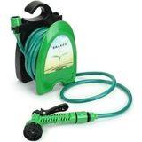 32FT Draagbare Mini Water Slang Reel Tuin Watering Auto Was Slang Opslag Holder Kit