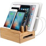 Bamboo Phone Tablet houder Organizer Oplader voor Smart Phone / Tablet PC / iPad / iPhone