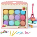 12st Macaron Crystal Slime Fluffy DIY Squishy Bubbels Anti-stress kinderen speelgoed
