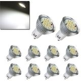 10X GU10 7W 640LM Pure White 16 SMD 5630 LED lampen lampen AC85-265V