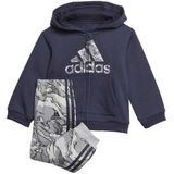 Junior Adidas Fleece Hooded Joggingpak GE0007 Trainingspak Blauw
