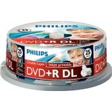 Philips DVD+R double layer printable 25 stuks in cakebox