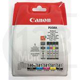 Inktcartridge Canon PGI-580XL / CLI-581 multipack (origineel), zwart