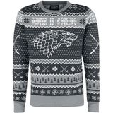 Game of Thrones Winter Is Coming Mannen Christmas jumper grijs - officieel Marchandise!