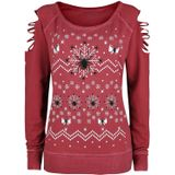 Outer Vision Spider X-Mas Vrouwen Sweatshirts rood