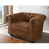 Fauteuil Chesterfield Edward Vintage Bruin