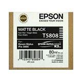 Epson T5808 inkt cartridge mat zwart (origineel)