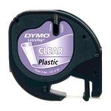 DYMO S0721530 / 12267 plastic tape zwart transparant 12mm (origineel)