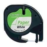 DYMO S0721510 / 91200 tape wit papier 12mm (origineel)