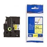 Brother TZe-FX651 flexi ID tape zwart op geel 24mm x 8m (origineel)
