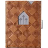 Exentri Leather Wallet RFID sand chess Dames portemonnee