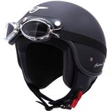 Retro Helm MT Custom Rider - Zwart