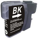 Compatible voor Brother LC980BK inktcartridge zwart 28 ml. - inktknaller