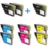 Compatible voor Brother LC-985 DUO PACK 8 cartridges + 1 zwart extra - inktknaller