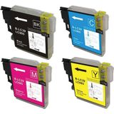 Compatible voor Brother LC-985 MULTI PACK 4 cartridges - inktknaller