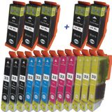 Compatible Epson T3357 - T33XL trio pack 17 cartridges