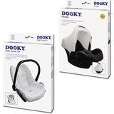 Dooky Combi Pack Hoody & Seat Cover 0+ - Light Grey Crowns