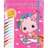 Top Model - Cute Friends - Coloring Book and Pens (048766) /Arts and Crafts