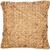 Riviera Maison Water Hyacinth Weaves Pillow Cover - Kussenhoes - Natural - 50.0 x 50.0