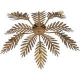 QAZQA botanica - Retro Plafondlamp - 5 lichts - Ø 700 mm - Goud/messing - Woonkamer Slaapkamer Keuken