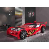 Vipack Autobed Lemans - Bed - Rood - 111 x 247 cm