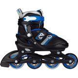 Nijdam Inline Skates Verstelbaar - Go Crossing - Zwart/Blauw - 37-40