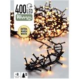 Kerstboomverlichting Micro Cluster - 8 m - 400 LED's - warm wit