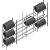 Voordeelrij bandenstelling Medium Duty 2000x4000x600 4 secties 3 niveaus