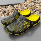 Fashion Trend Comfortable and Breathable Sandals Slippers for Men (Color:Black Yellow Size:43)