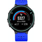For Garmin Forerunner 235 Two-color Replacement Strap Watchband(Sapphire Blue Black)