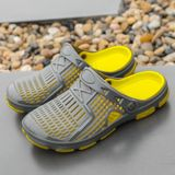 Fashion Trend Comfortable and Breathable Sandals Slippers for Men (Color:Grey Size:42)