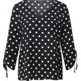 Esprit Collection Blouse 'Matt Shiny' wit / zwart