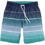BENCH Zwemshorts wit / turquoise / navy / duifblauw