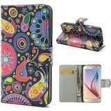 Samsung S6 Hoesje Wallet Case Meteor