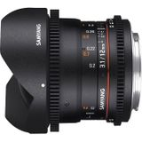 Samyang 12mm T3.1 VDSLR ED AS NCS fisheye Fujifilm X-mount objectief