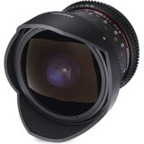 Samyang 8mm T3.8 UMC VDSLR fisheye CSII Olympus FT-mount objectief