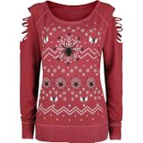 Outer Vision - Spider X-Mas - Sweatshirts - rood - Large Exclusief!