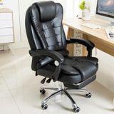 Opruiming design bureaustoel racer gamestoel massagestoel met voetsteun zwart